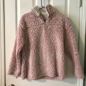 Vici- cotton candy Sherpa pullover